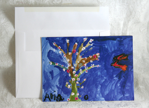 Flower Tree card set