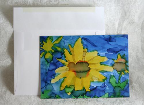 Sunflower-greeting card set