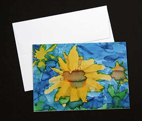 Sunflower-greeting card set