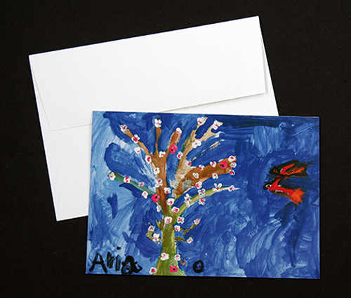 Flower Tree card set