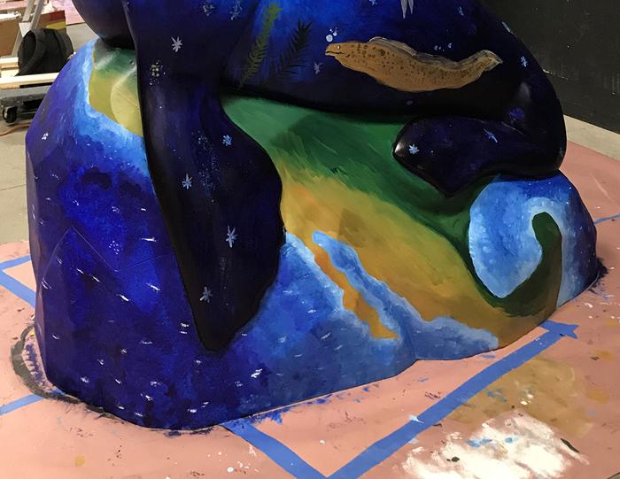Deep Blue detail: the rock