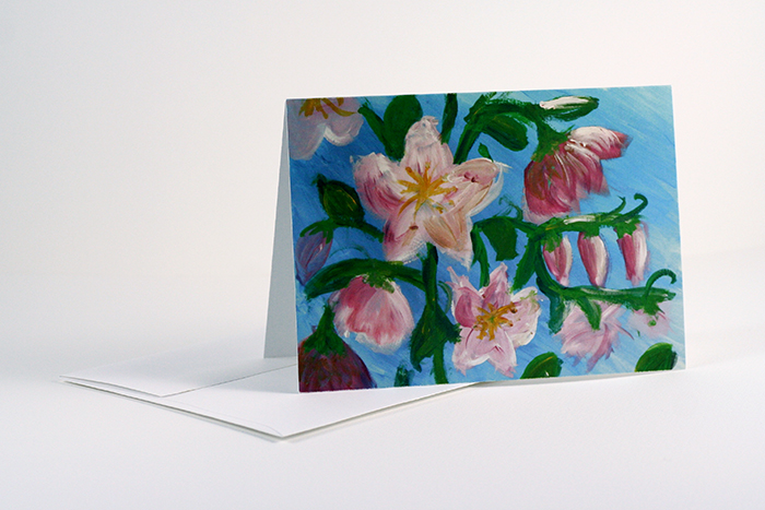 Cherry Blossoms greeting card set