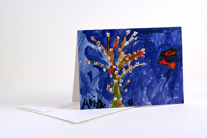 Flower Tree greeting card set