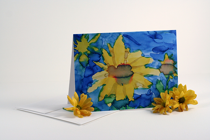 Sunflower greeting card set